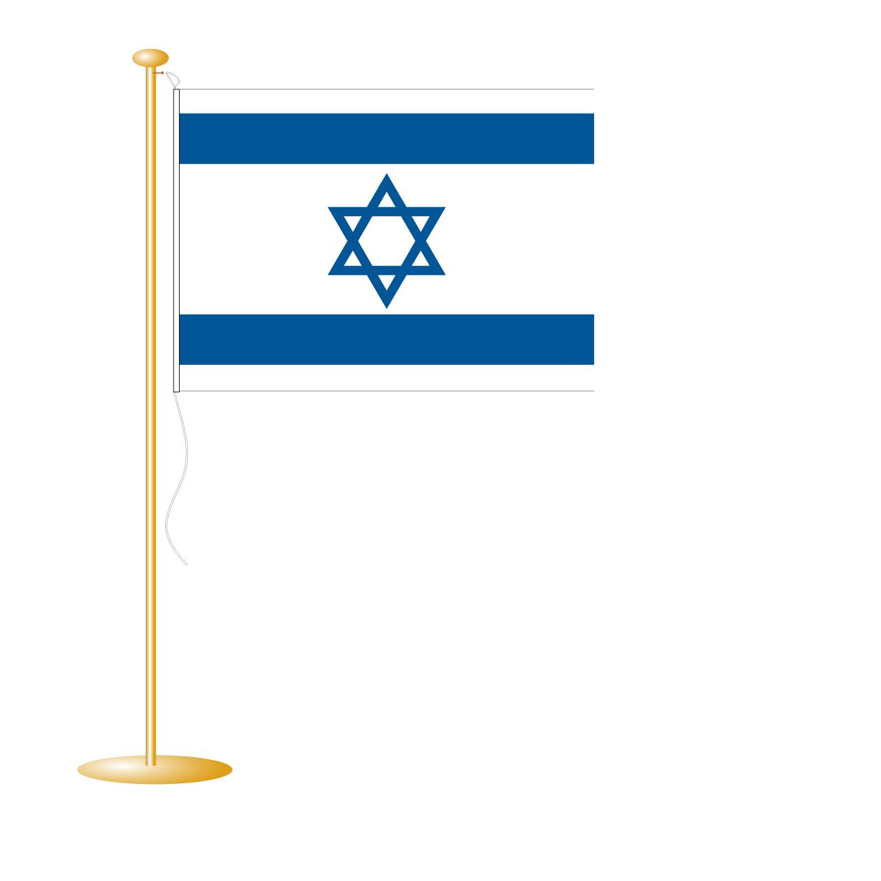 Tafelvlag Israël afm. 10x15cm