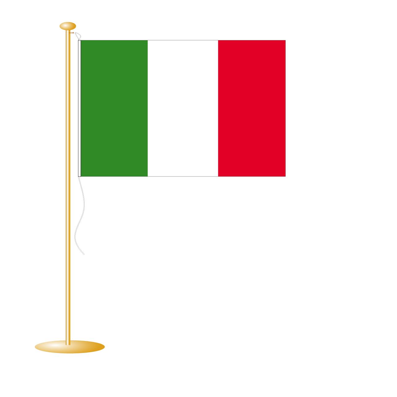 Tafelvlag Italië afm. 10x15cm