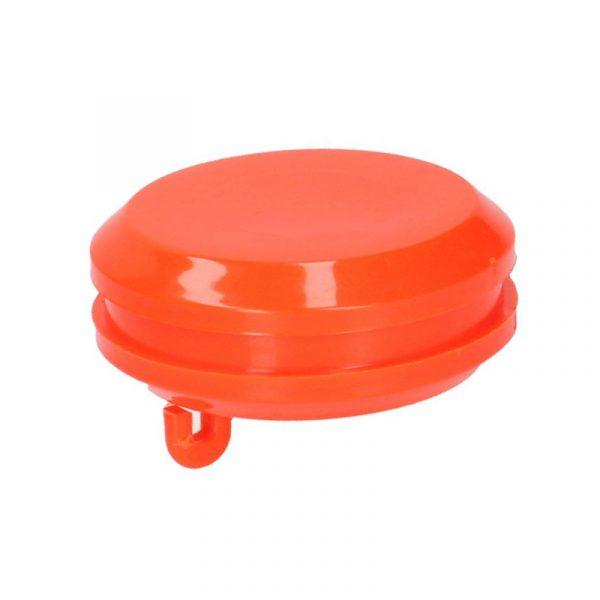 Houten vlaggenstokknop oranje plat
