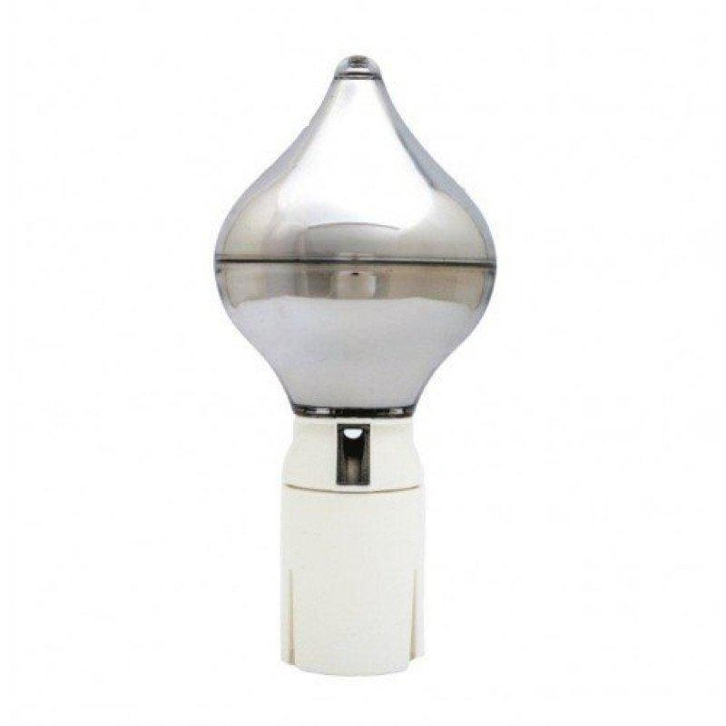 Vlaggenmastknop zilver peervorm