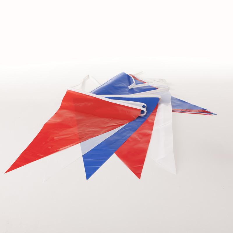 Vlaggenlijnen aanbieding Rood-Wit-Blauw 1200 mtr. PVC