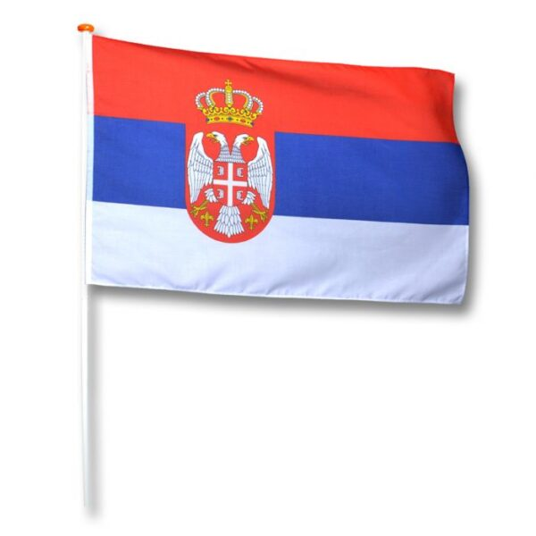 vlag Servië